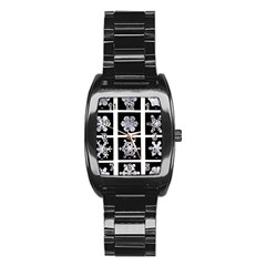 Snowflakes Exemplifies Emergence In A Physical System Stainless Steel Barrel Watch