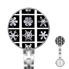 Snowflakes Exemplifies Emergence In A Physical System Stainless Steel Nurses Watch