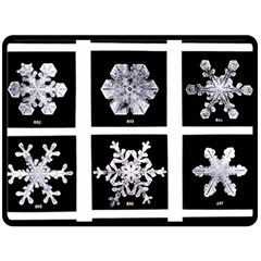 Snowflakes Exemplifies Emergence In A Physical System Double Sided Fleece Blanket (large)