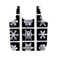 Snowflakes Exemplifies Emergence In A Physical System Full Print Recycle Bags (M)