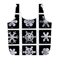 Snowflakes Exemplifies Emergence In A Physical System Full Print Recycle Bags (l)