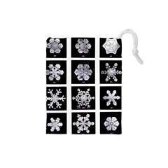 Snowflakes Exemplifies Emergence In A Physical System Drawstring Pouches (small)