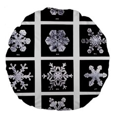 Snowflakes Exemplifies Emergence In A Physical System Large 18  Premium Flano Round Cushions