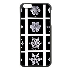 Snowflakes Exemplifies Emergence In A Physical System Apple iPhone 6 Plus/6S Plus Black Enamel Case