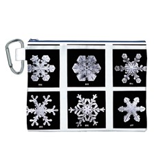 Snowflakes Exemplifies Emergence In A Physical System Canvas Cosmetic Bag (l)