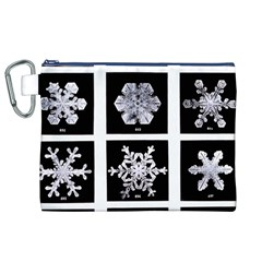 Snowflakes Exemplifies Emergence In A Physical System Canvas Cosmetic Bag (xl)