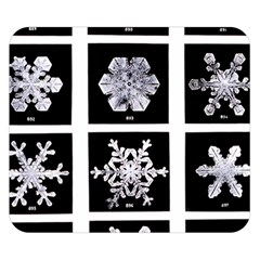 Snowflakes Exemplifies Emergence In A Physical System Double Sided Flano Blanket (small)