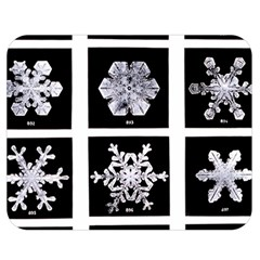 Snowflakes Exemplifies Emergence In A Physical System Double Sided Flano Blanket (medium)