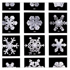 Snowflakes Exemplifies Emergence In A Physical System Large Satin Scarf (square)