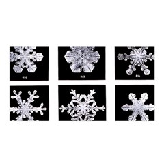 Snowflakes Exemplifies Emergence In A Physical System Satin Wrap