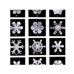 Snowflakes Exemplifies Emergence In A Physical System Small Satin Scarf (Square)