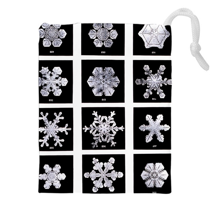 Snowflakes Exemplifies Emergence In A Physical System Drawstring Pouches (XXL)