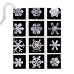 Snowflakes Exemplifies Emergence In A Physical System Drawstring Pouches (XXL) Back