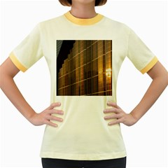Swisstech Convention Center Women s Fitted Ringer T Shirts