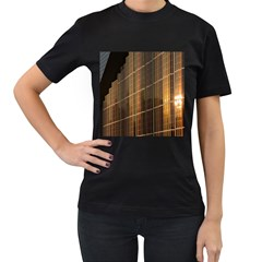 Swisstech Convention Center Women s T-Shirt (Black) (Two Sided)