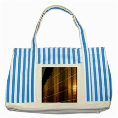 Swisstech Convention Center Striped Blue Tote Bag