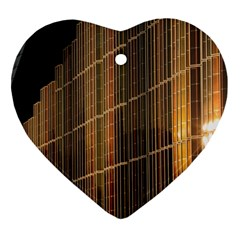 Swisstech Convention Center Heart Ornament (Two Sides)