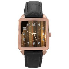 Swisstech Convention Center Rose Gold Leather Watch