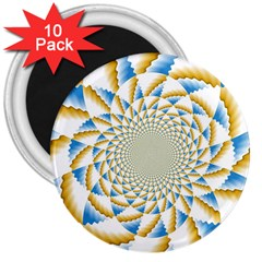 Tech Neon And Glow Backgrounds Psychedelic Art Psychedelic Art 3  Magnets (10 Pack)