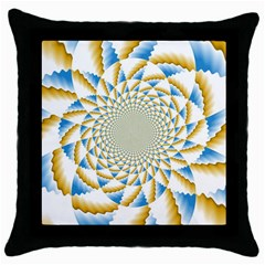 Tech Neon And Glow Backgrounds Psychedelic Art Psychedelic Art Throw Pillow Case (Black)