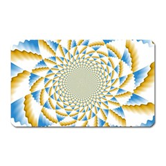 Tech Neon And Glow Backgrounds Psychedelic Art Psychedelic Art Magnet (rectangular)