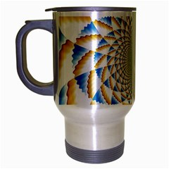 Tech Neon And Glow Backgrounds Psychedelic Art Psychedelic Art Travel Mug (silver Gray)