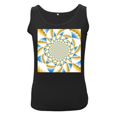 Tech Neon And Glow Backgrounds Psychedelic Art Psychedelic Art Women s Black Tank Top