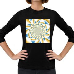 Tech Neon And Glow Backgrounds Psychedelic Art Psychedelic Art Women s Long Sleeve Dark T Shirts