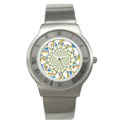 Tech Neon And Glow Backgrounds Psychedelic Art Psychedelic Art Stainless Steel Watch
