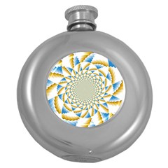 Tech Neon And Glow Backgrounds Psychedelic Art Psychedelic Art Round Hip Flask (5 Oz)