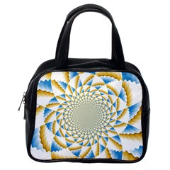 Tech Neon And Glow Backgrounds Psychedelic Art Psychedelic Art Classic Handbags (one Side)