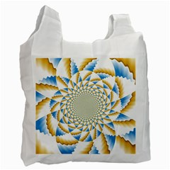 Tech Neon And Glow Backgrounds Psychedelic Art Psychedelic Art Recycle Bag (two Side)