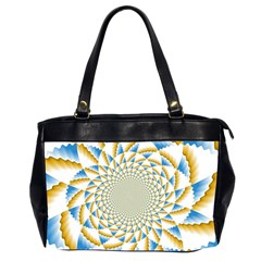 Tech Neon And Glow Backgrounds Psychedelic Art Psychedelic Art Office Handbags (2 Sides)
