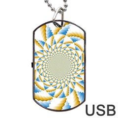 Tech Neon And Glow Backgrounds Psychedelic Art Psychedelic Art Dog Tag Usb Flash (two Sides)