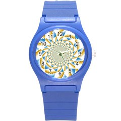 Tech Neon And Glow Backgrounds Psychedelic Art Psychedelic Art Round Plastic Sport Watch (s)