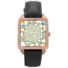 Tech Neon And Glow Backgrounds Psychedelic Art Psychedelic Art Rose Gold Leather Watch