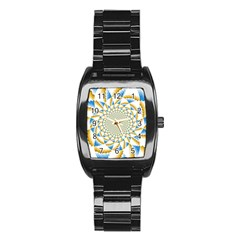 Tech Neon And Glow Backgrounds Psychedelic Art Psychedelic Art Stainless Steel Barrel Watch