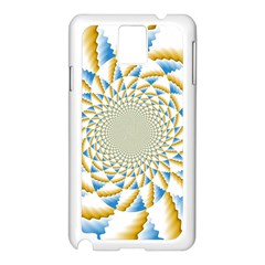 Tech Neon And Glow Backgrounds Psychedelic Art Psychedelic Art Samsung Galaxy Note 3 N9005 Case (white)