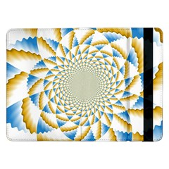 Tech Neon And Glow Backgrounds Psychedelic Art Psychedelic Art Samsung Galaxy Tab Pro 12 2  Flip Case