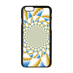 Tech Neon And Glow Backgrounds Psychedelic Art Psychedelic Art Apple Iphone 6/6s Black Enamel Case