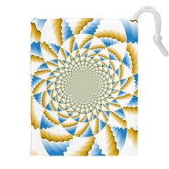 Tech Neon And Glow Backgrounds Psychedelic Art Psychedelic Art Drawstring Pouches (XXL)