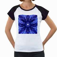 Tech Neon And Glow Backgrounds Psychedelic Art Women s Cap Sleeve T