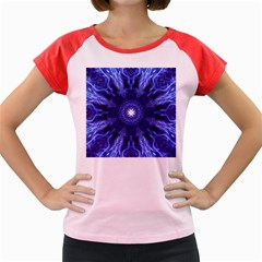 Tech Neon And Glow Backgrounds Psychedelic Art Women s Cap Sleeve T Shirt