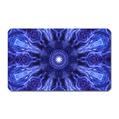 Tech Neon And Glow Backgrounds Psychedelic Art Magnet (Rectangular)