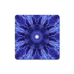 Tech Neon And Glow Backgrounds Psychedelic Art Square Magnet