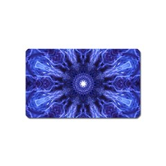 Tech Neon And Glow Backgrounds Psychedelic Art Magnet (name Card)