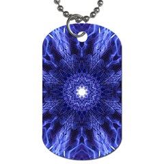 Tech Neon And Glow Backgrounds Psychedelic Art Dog Tag (one Side)