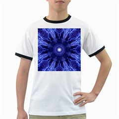 Tech Neon And Glow Backgrounds Psychedelic Art Ringer T Shirts