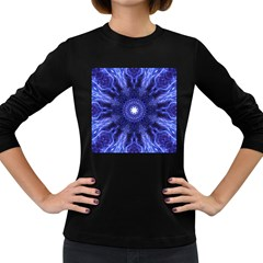 Tech Neon And Glow Backgrounds Psychedelic Art Women s Long Sleeve Dark T Shirts