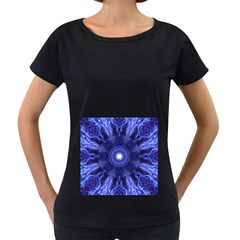 Tech Neon And Glow Backgrounds Psychedelic Art Women s Loose Fit T Shirt (black)